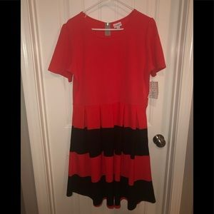 Lularoe orange & black dress halloween 2XL Amelia